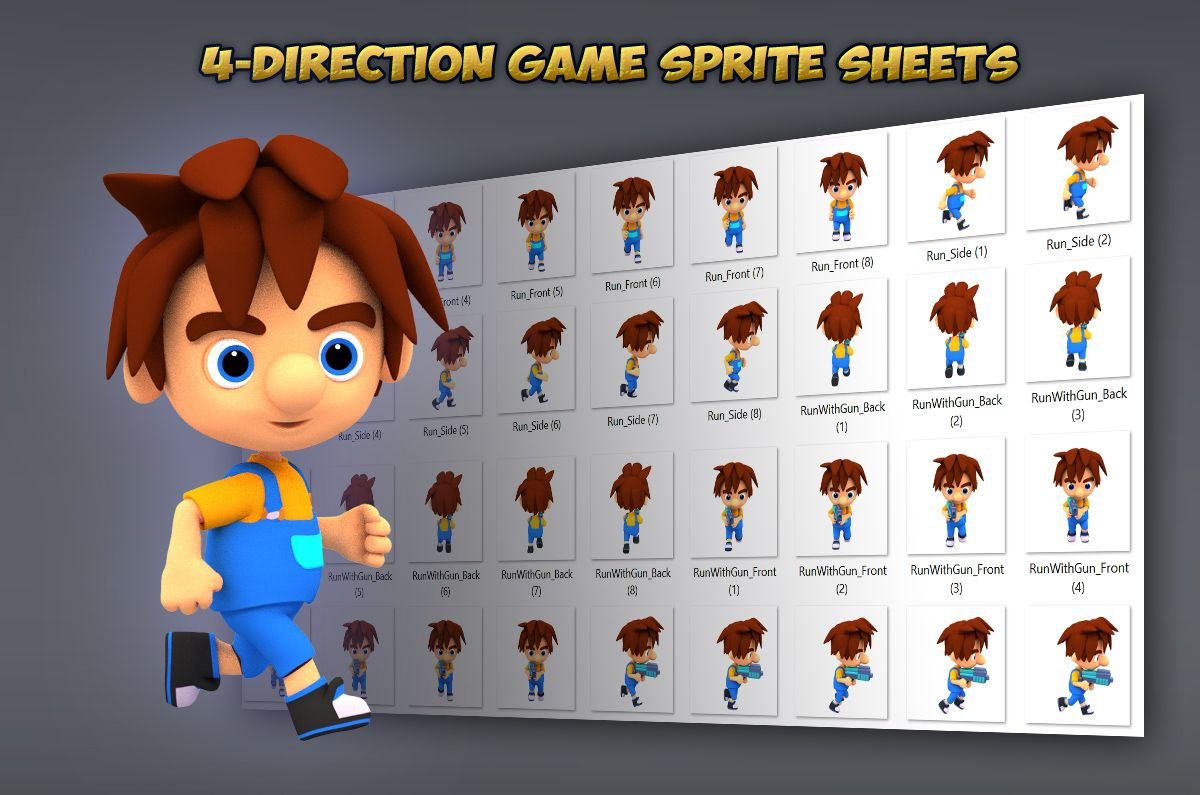 4-Directional Game Character Sprites Screenshot 2