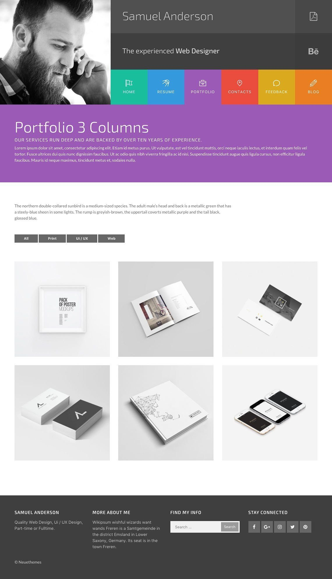 samuel resume and portfolio wordpress theme codester. Black Bedroom Furniture Sets. Home Design Ideas
