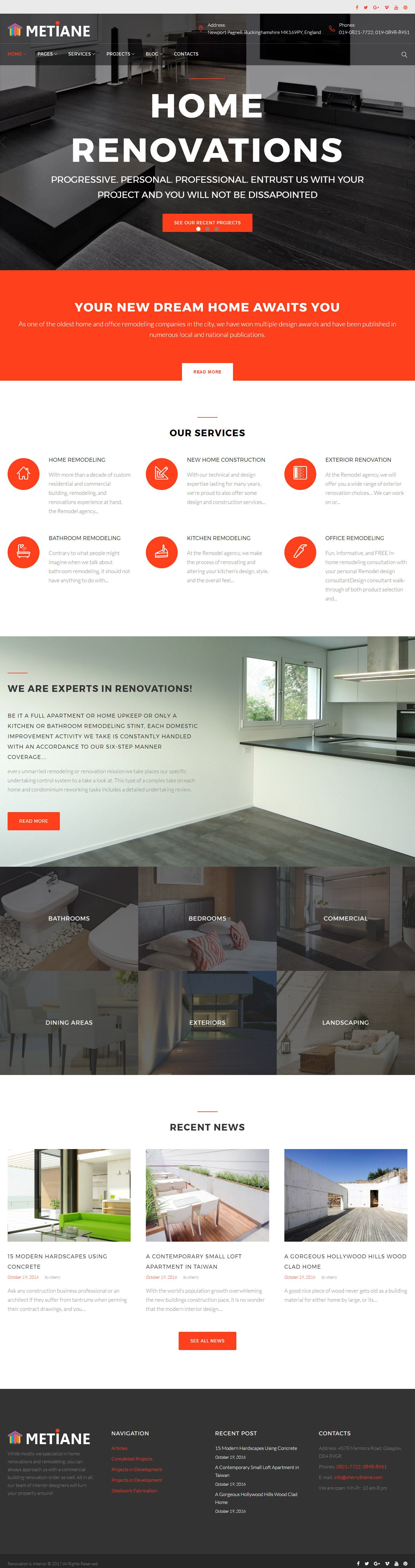 Metiane - Interior Design Wordpress Theme Screenshot 3