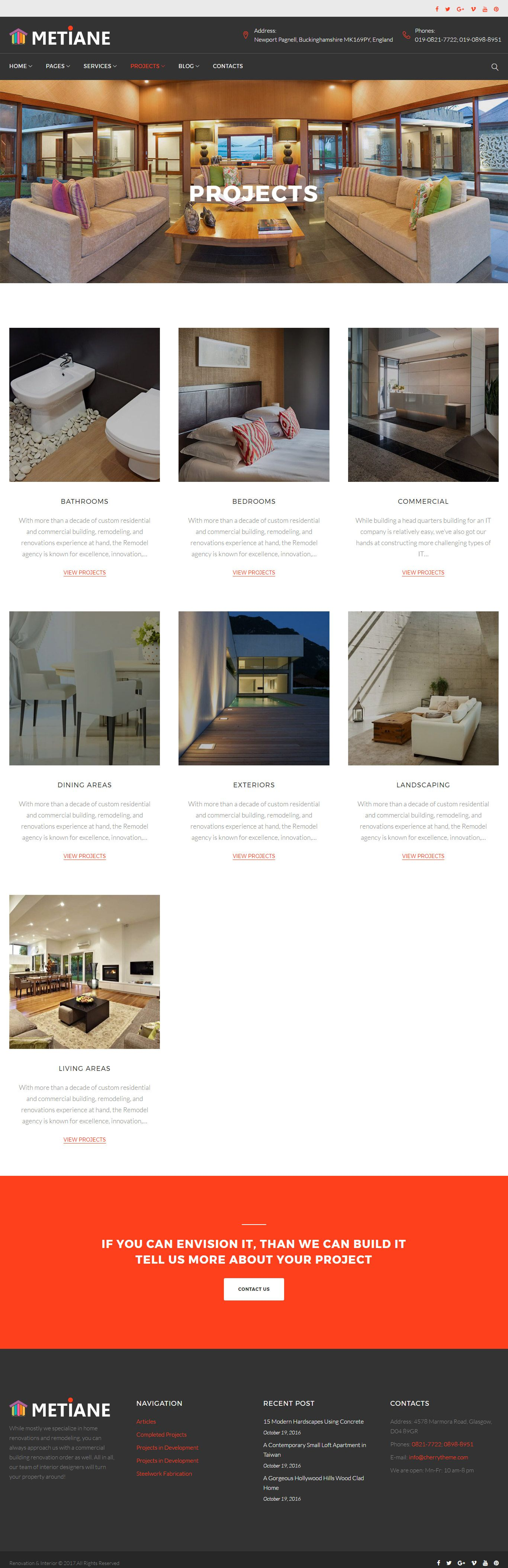 Metiane - Interior Design Wordpress Theme Screenshot 5