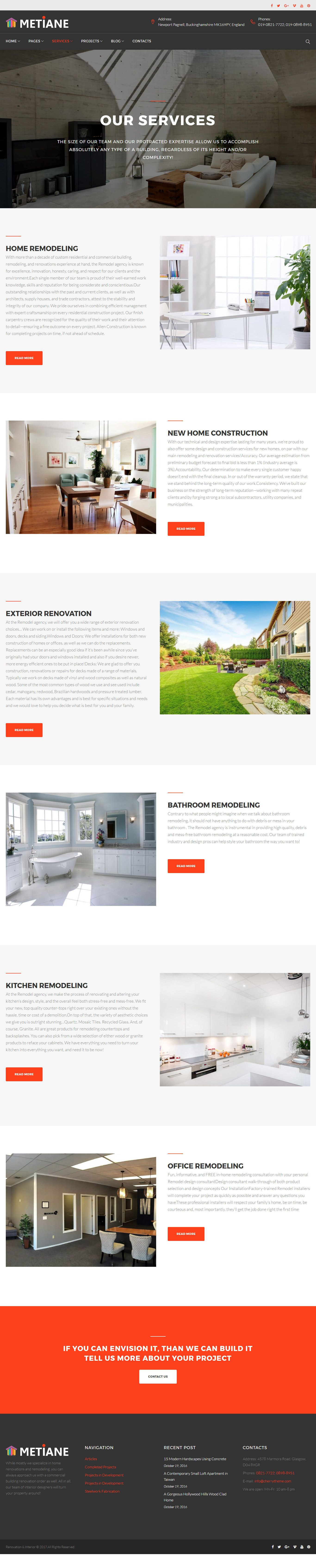 Metiane - Interior Design Wordpress Theme Screenshot 7