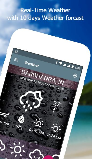 Weather App - Android Source Code Screenshot 1