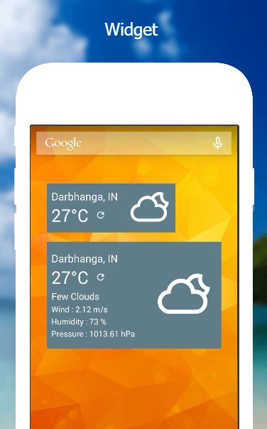 Weather App - Android Source Code Screenshot 4
