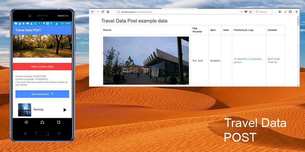 Travel Data Post - Ionic 3 App With PHP Backend Screenshot 3