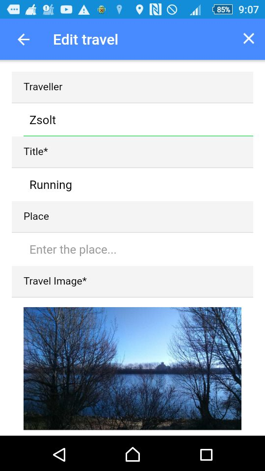 Travel Data Post - Ionic 3 App With PHP Backend Screenshot 4