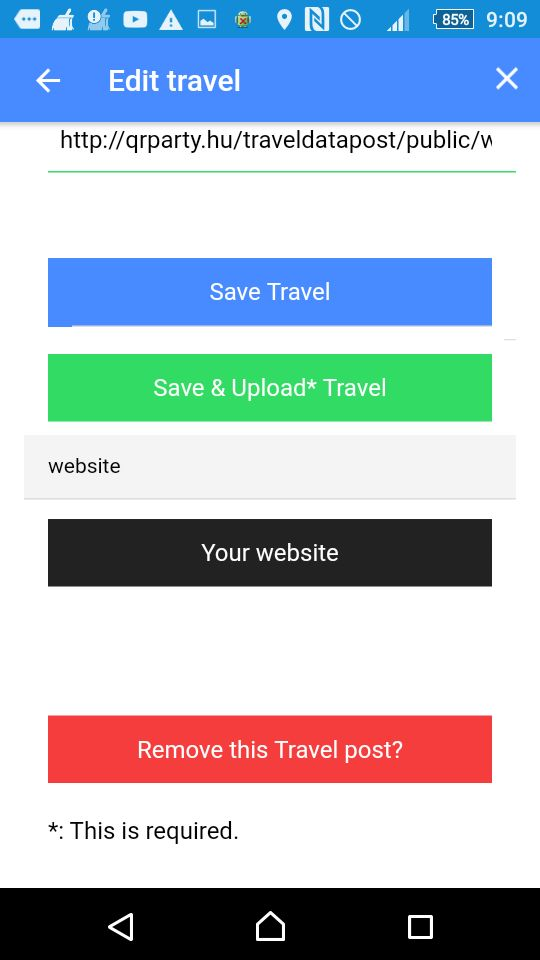 Travel Data Post - Ionic 3 App With PHP Backend Screenshot 6