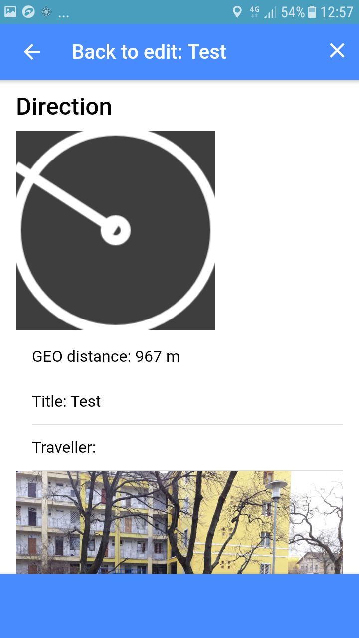 Travel Data Post - Ionic 3 App With PHP Backend Screenshot 8