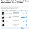 Flance Add Multiple Products Order Form Plugin