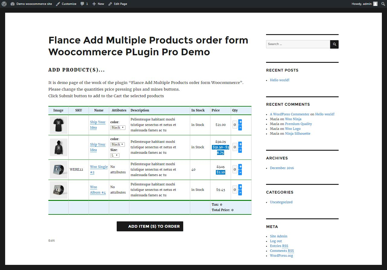 Add Multiple Products WooCommerce Plugin Screenshot 4