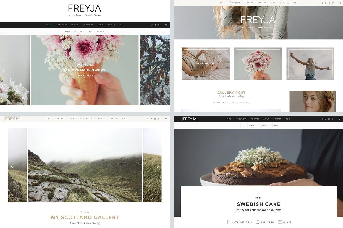 Freyja - Personal WordPress Theme For Bloggers Screenshot 1