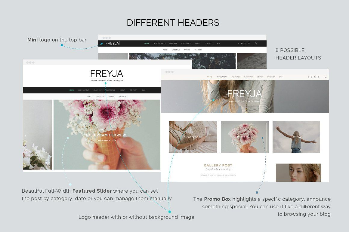 Freyja - Personal WordPress Theme For Bloggers Screenshot 3