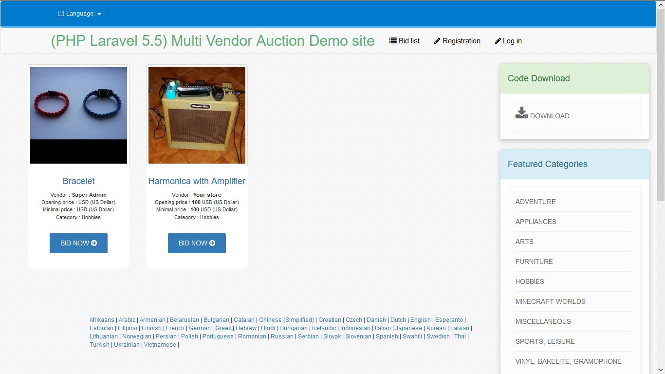 PHP Laravel Auction - Multi-vendor Auction Script Screenshot 11