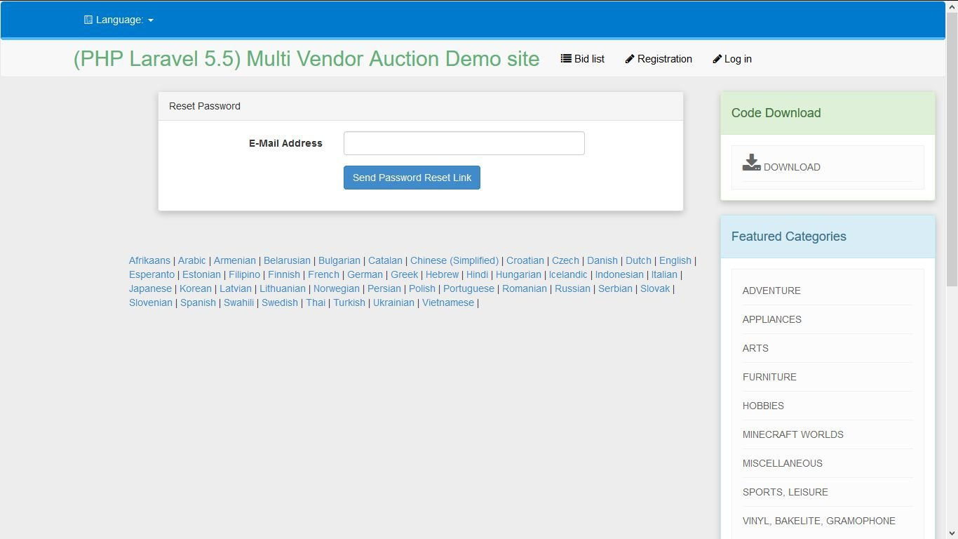 PHP Laravel Auction - Multi-vendor Auction Script Screenshot 15