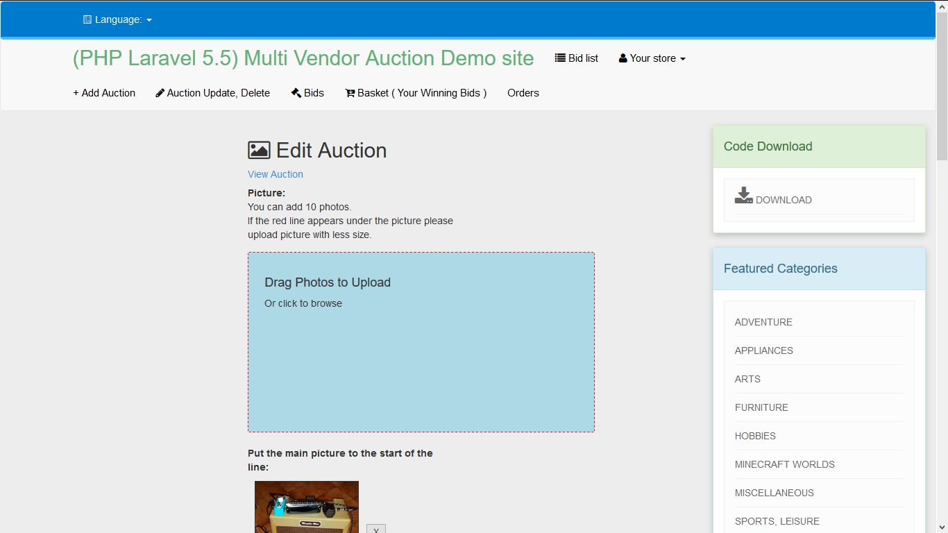 PHP Laravel Auction - Multi-vendor Auction Script Screenshot 17