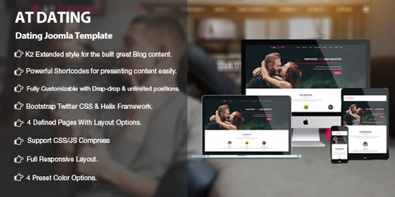 joomla dating templates The new perfect joomla template is very similar to our last joomla template power we have done this to show you how easy it is to create many different designs with the same template the theme looks similar, but of course very different to our power joomla template.