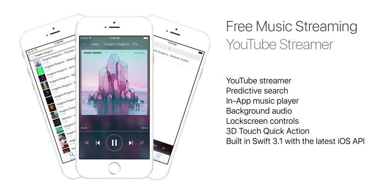 Youtube Music Streaming App - iOS Source Code