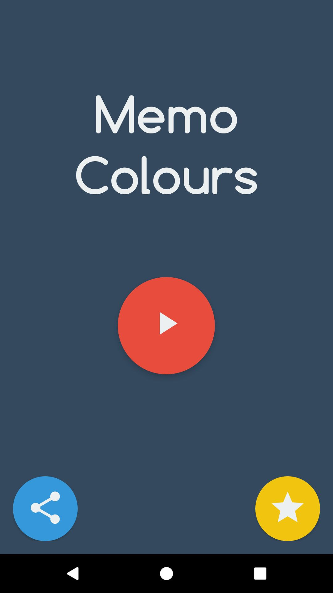 Memo Colours - Android Game Source Code Screenshot 1