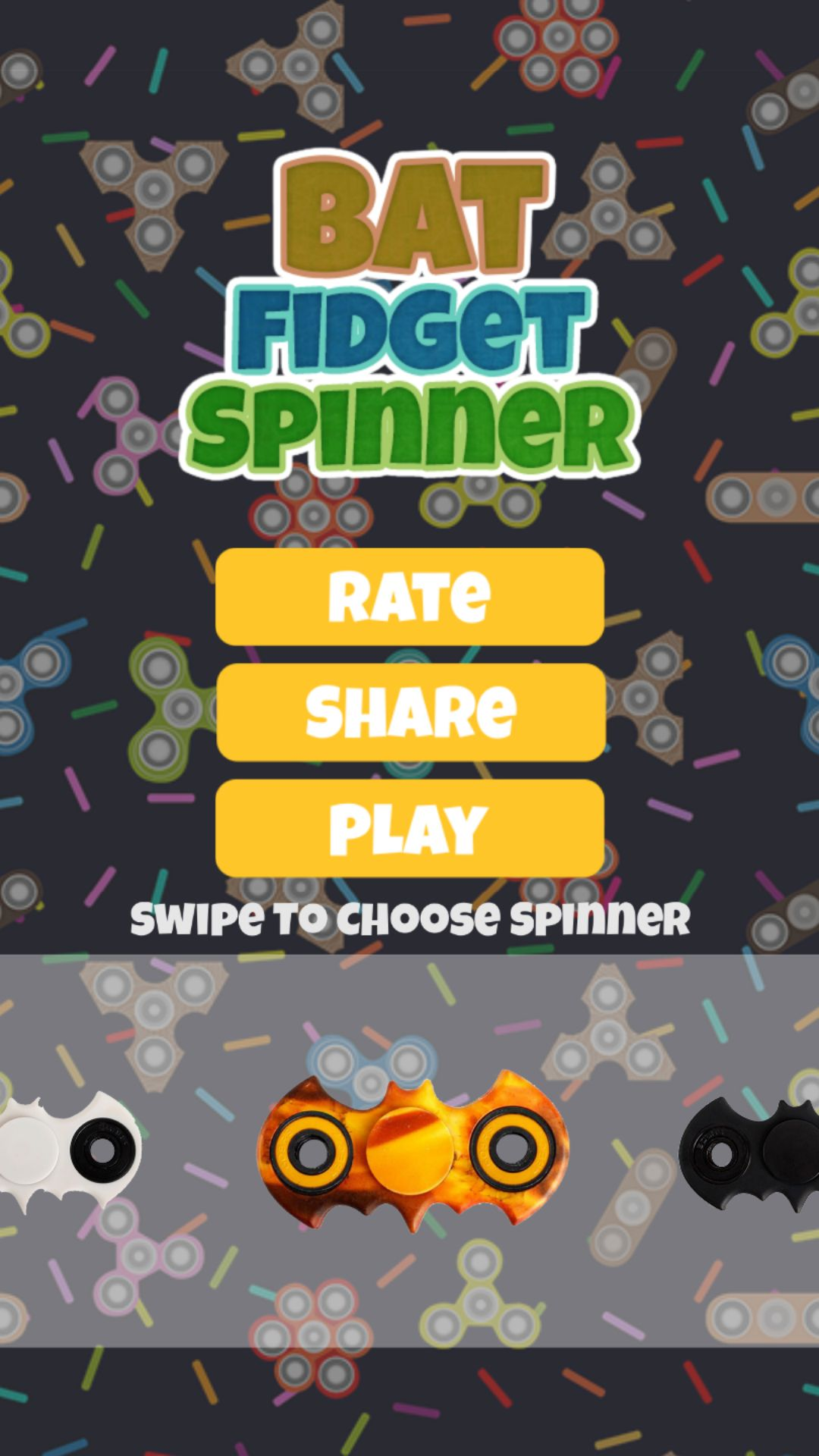 Bat Fidget Spinner - Buildbox Game Template Screenshot 2
