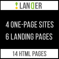Lander - 4 One Page Sites And 6 Landing Pages