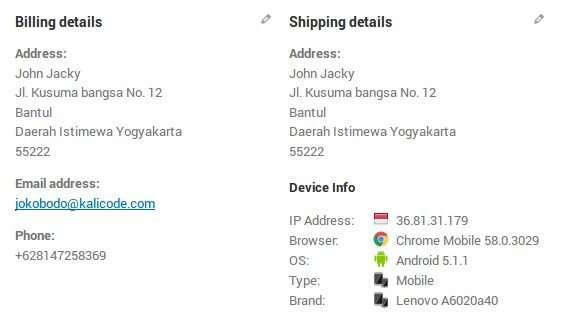 Customer Device Info - WooCommerce Plugin Screenshot 3