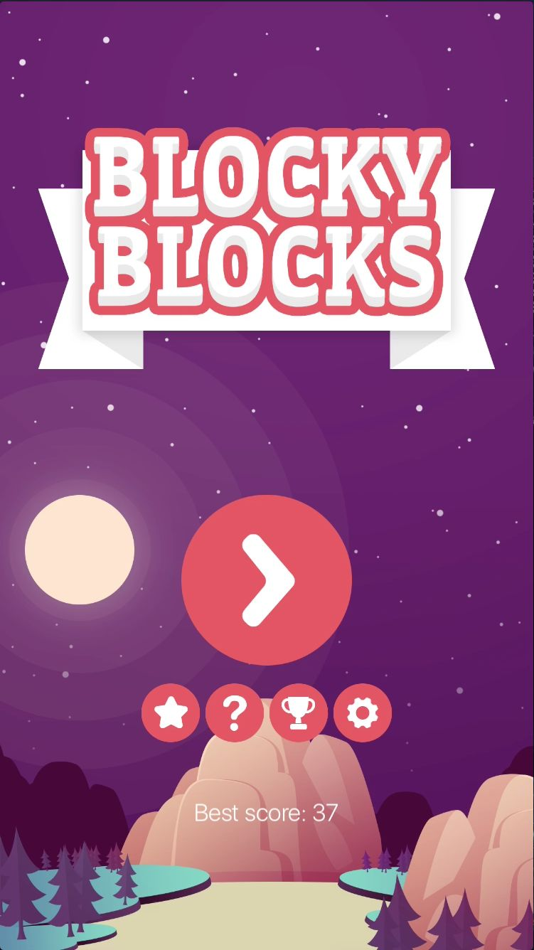 Blocky Blocks - iOS Xcode Source Code Screenshot 1