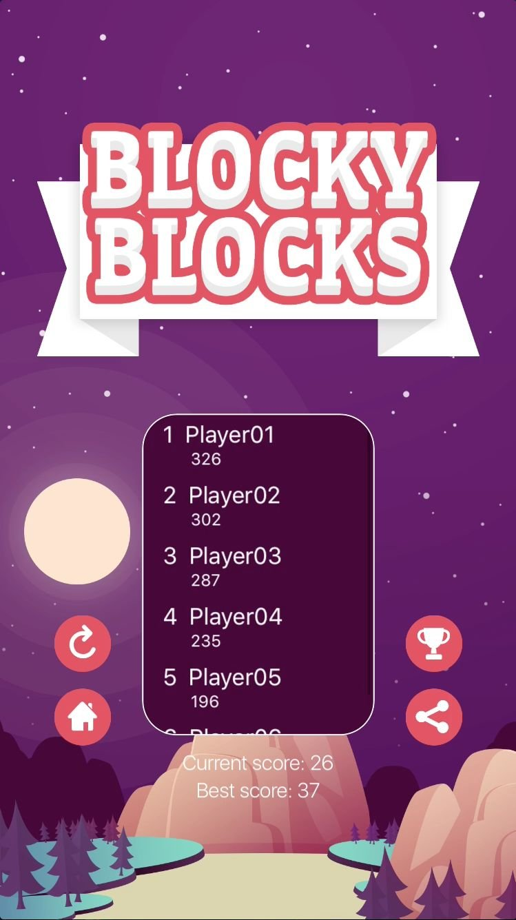 Blocky Blocks - iOS Xcode Source Code Screenshot 5
