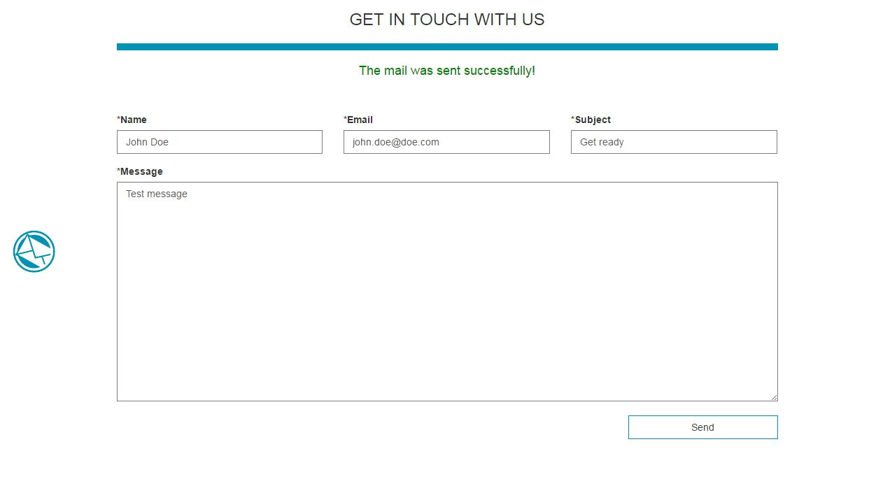 Responsive And Modal Contact Form Screenshot 1