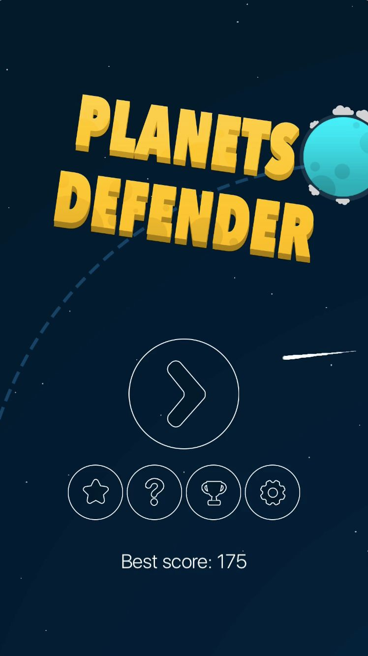 Planets Defender - iOS Source Code Screenshot 1