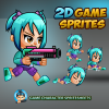 Girl 2D Game Character Sprites