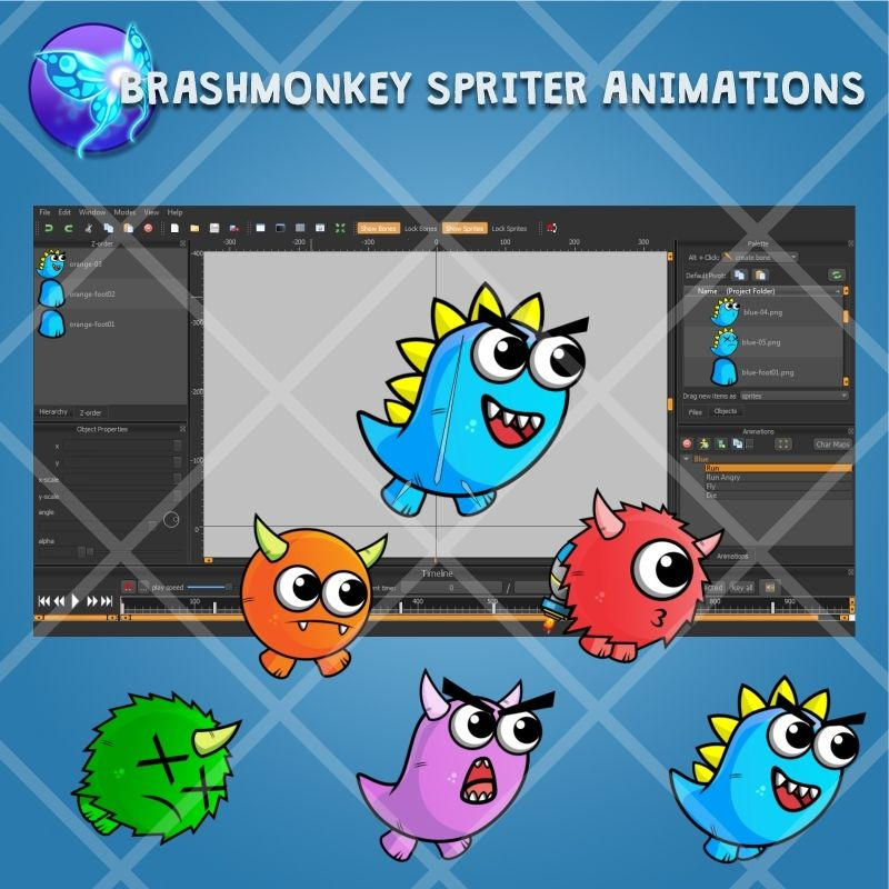 Enemy Monster Pack 2D Game Character Sprite Screenshot 2