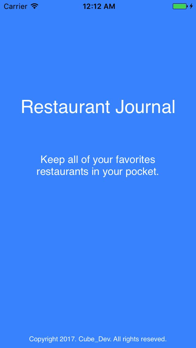 Restaurant Journal - iOS App Source Code Screenshot 7
