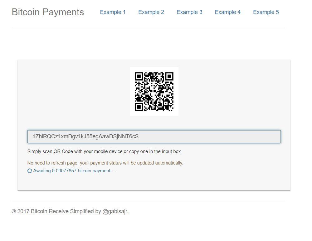 Blockchain Bitcoin Payments PHP Script