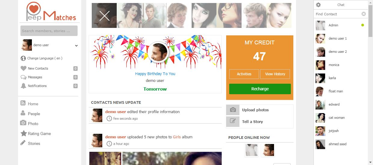 Peepmatches - Advanced Social Dating Software Screenshot 4