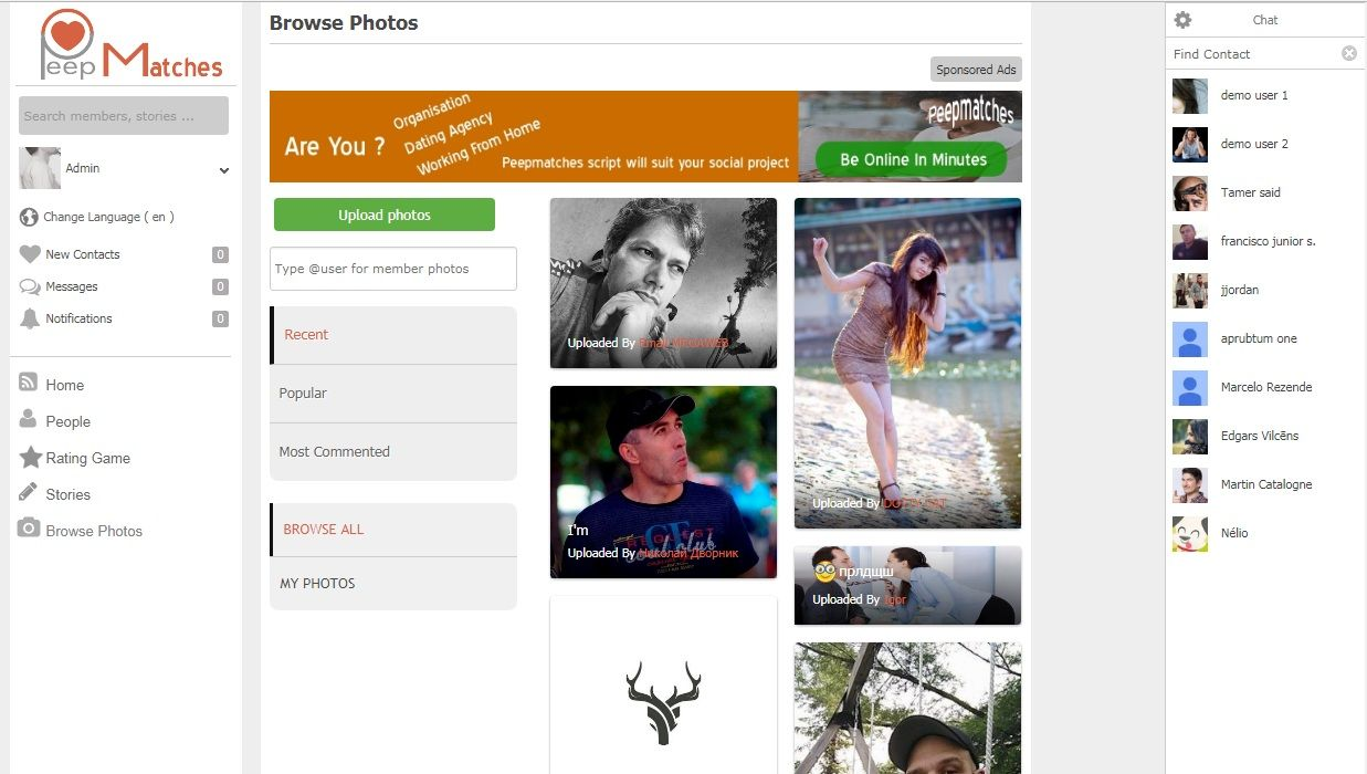 Peepmatches - Advanced Social Dating Software Screenshot 8