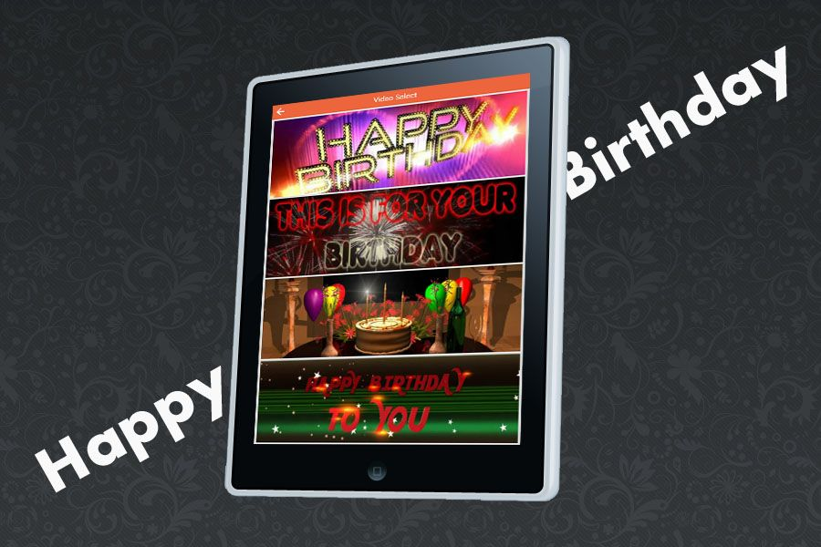 Happy Birthday - Video Maker Android Source Screenshot 2