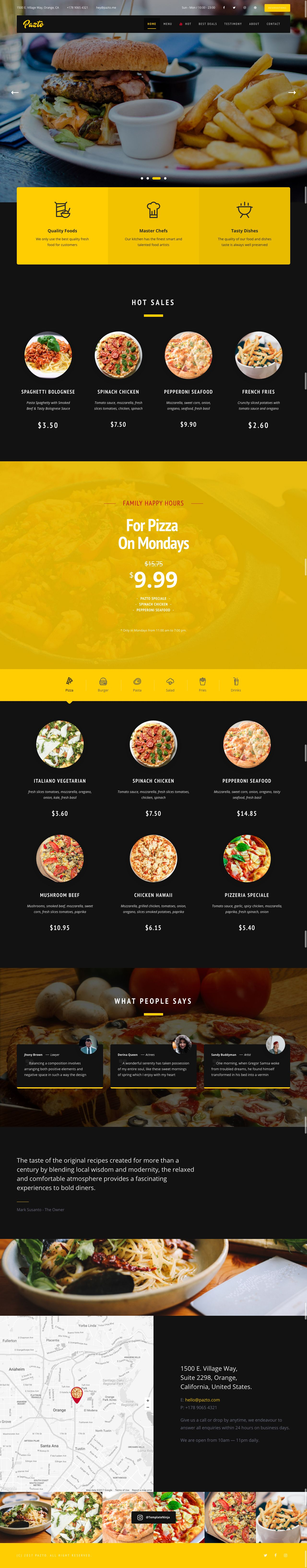 Pazto - Food And Restaurant HTML Template Screenshot 1