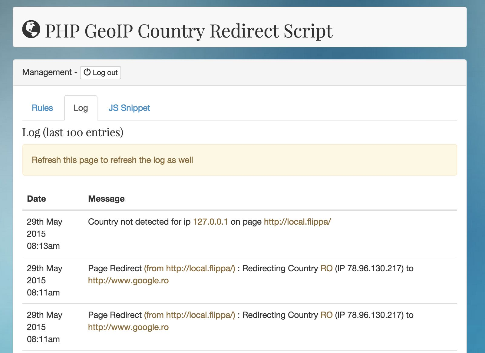 php geoip