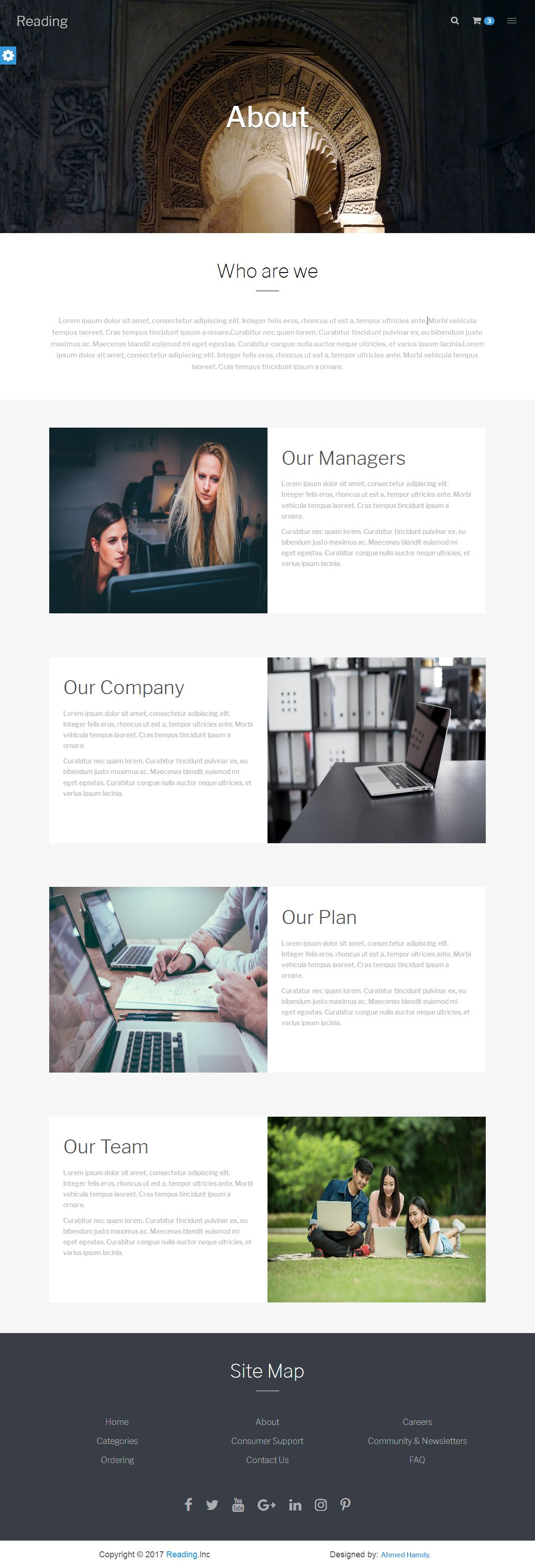 Reading Bookstore Responsive Html Template Codester