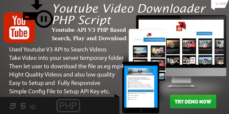 youtube download php script php multimedia scripts codester