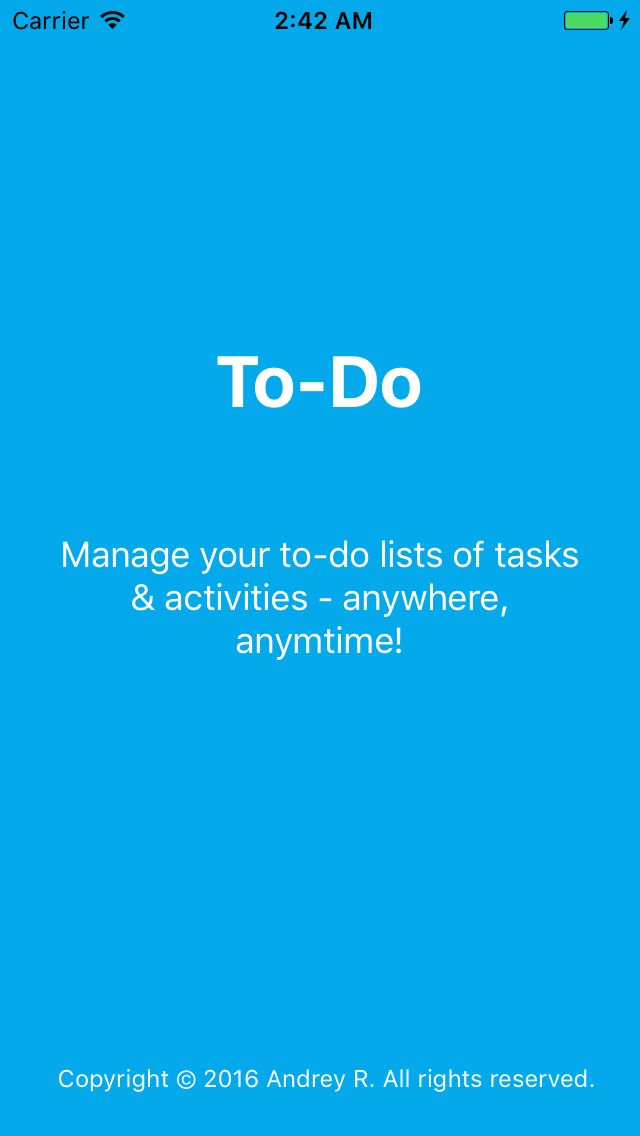 To-Do list iOS App Source Code Screenshot 3