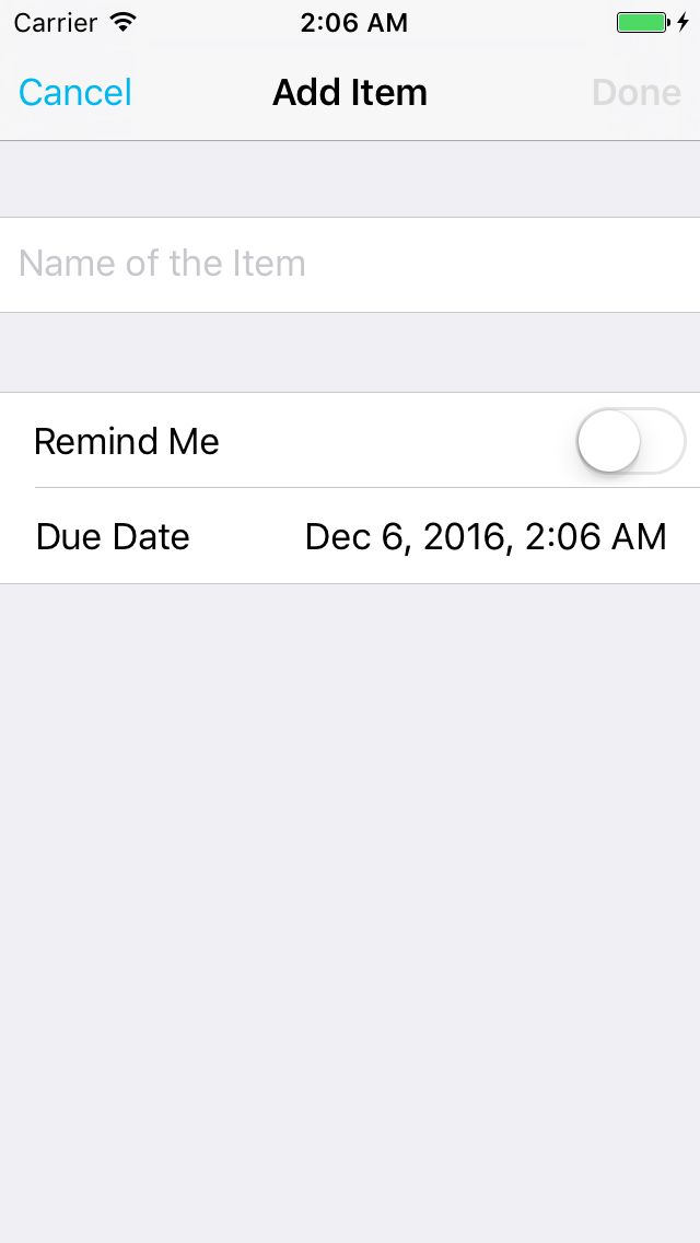 To-Do list iOS App Source Code Screenshot 7