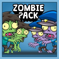 Zombie Pack Enemy 2D Game Character Sprite