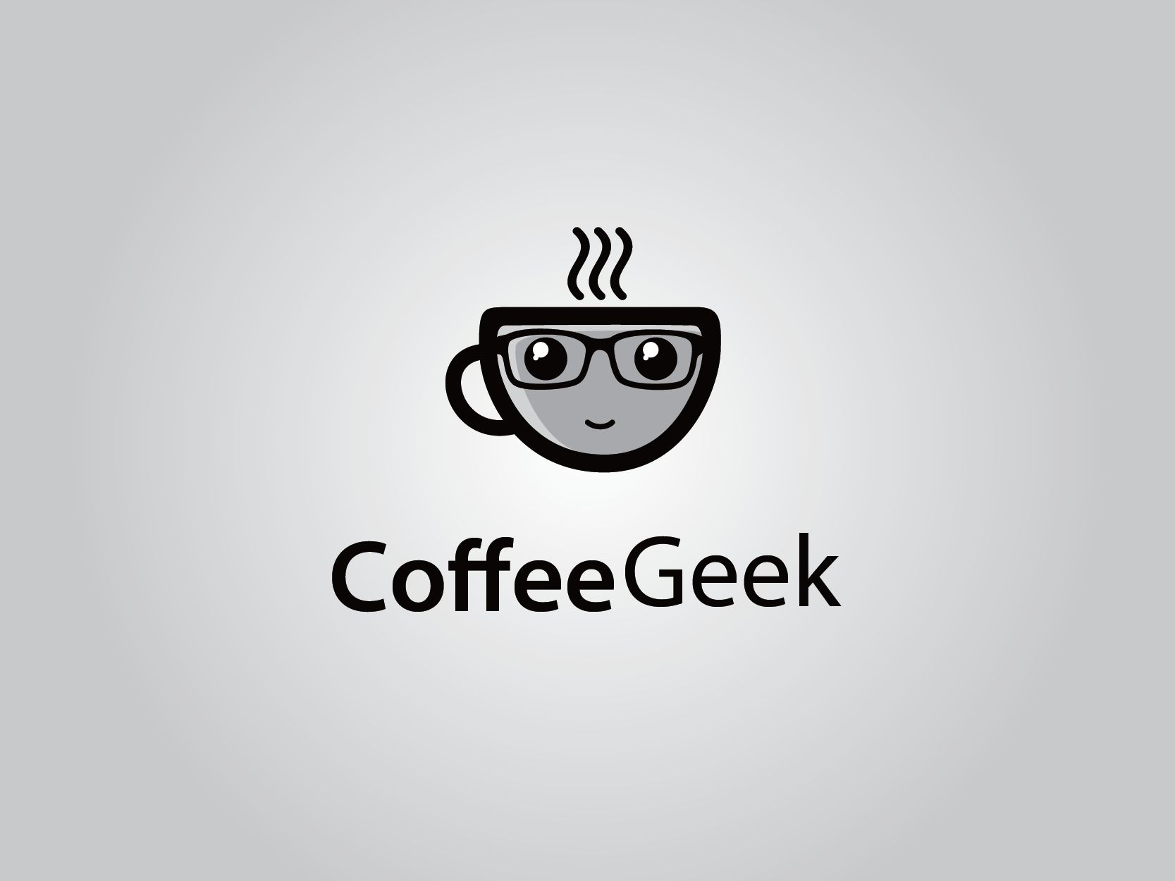 Coffee Geek - Cafe Logo Template Screenshot 1