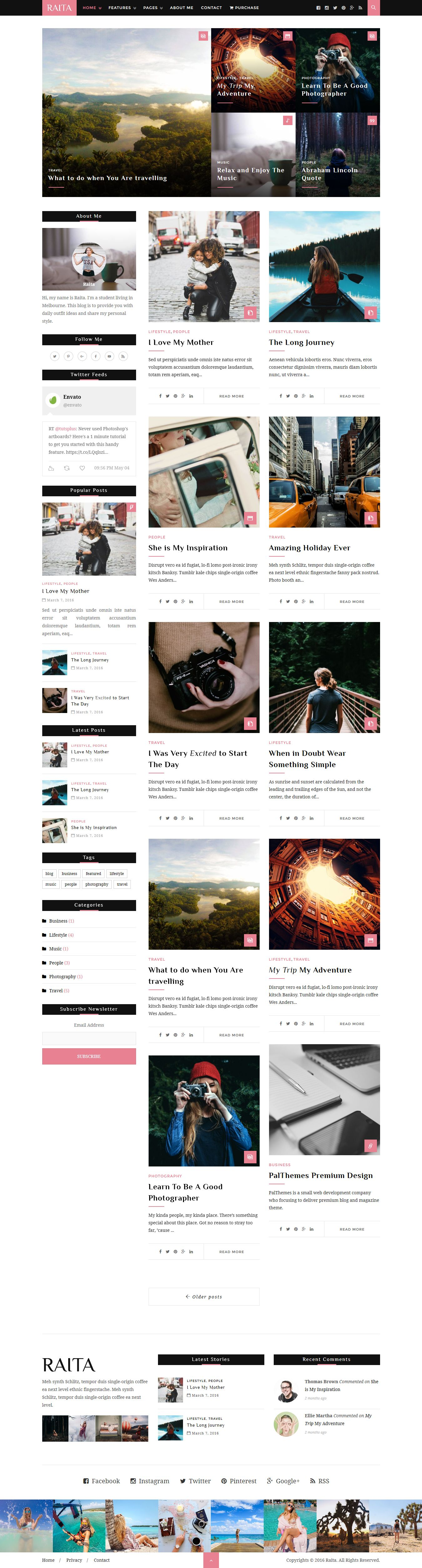 Raita - Minimal WordPress Theme For Writers Screenshot 2