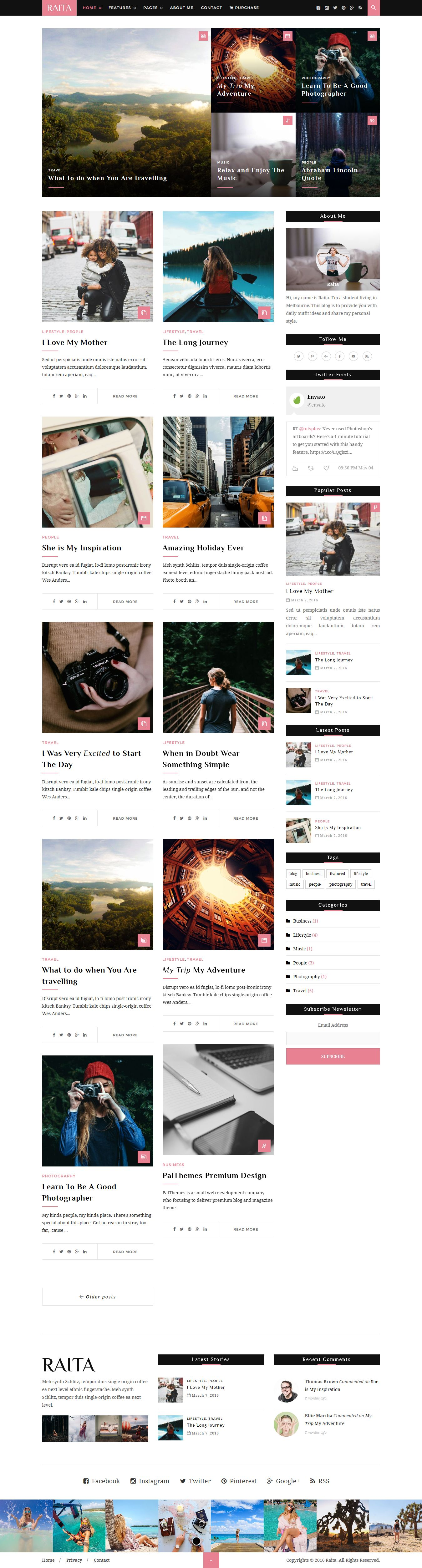Raita - Minimal WordPress Theme For Writers Screenshot 3