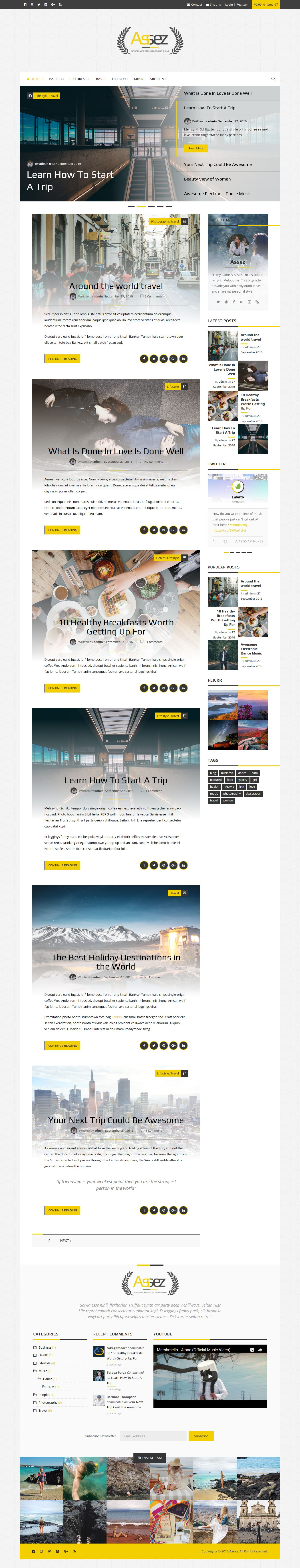 Assez - Modern WordPress Blogging Theme  Screenshot 2