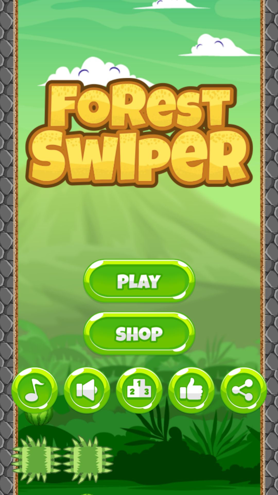 Forest Swiper - Buildbox Template Screenshot 1