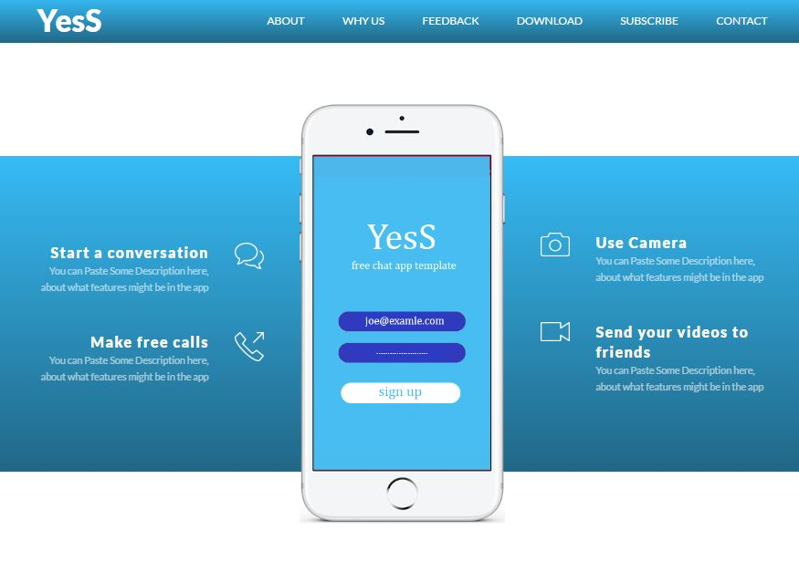 YesS - Responsive HTML5 Landing Page Template Screenshot 4