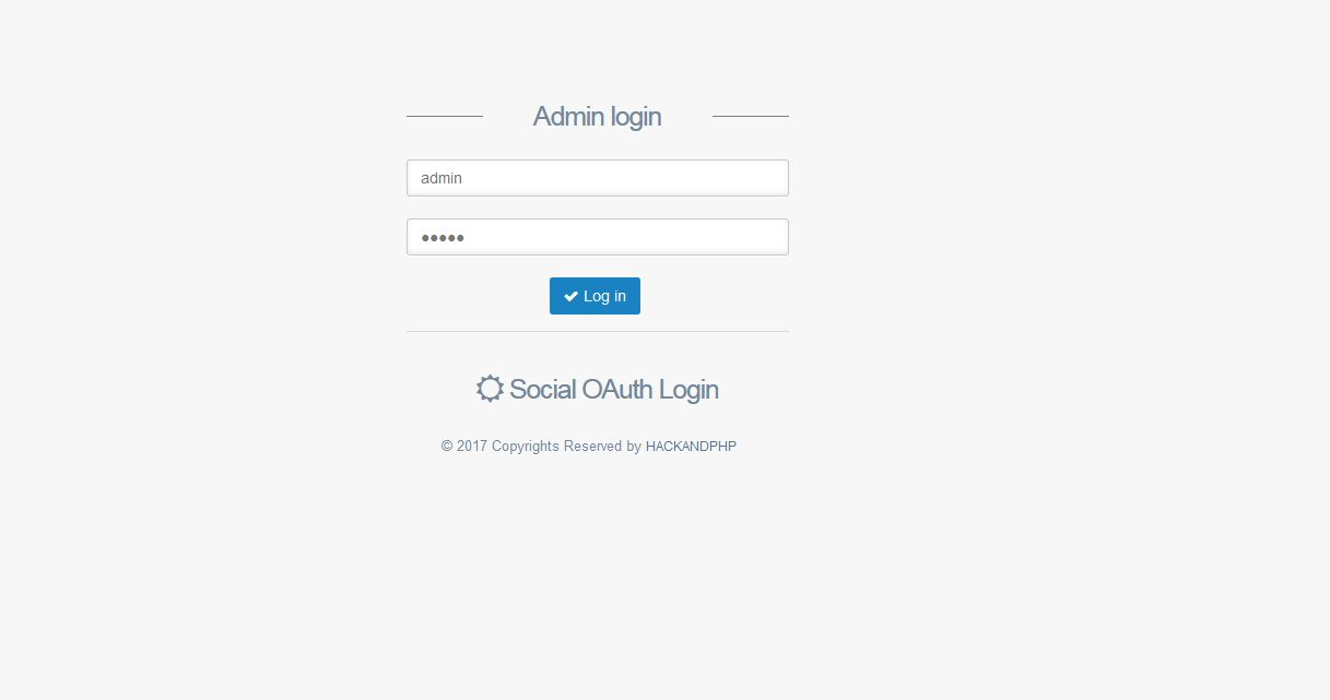 Social Oauth Login PHP Screenshot 3