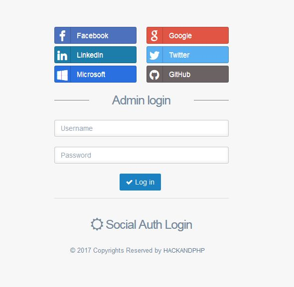 Social Oauth Login PHP Screenshot 4